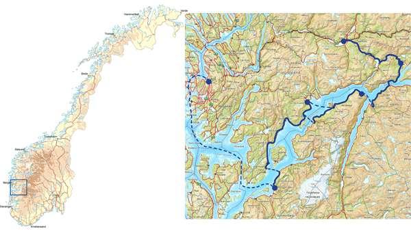 hardangerfjorden kart Bike Norway   Hardanger fjord   self guided | Discover Norway hardangerfjorden kart